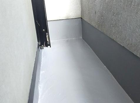 [ウレタン防水工事] 上塗り2回目 トップコートの完成です